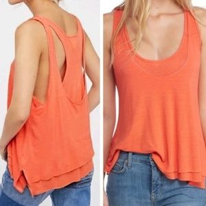 NWT Free People Karmen Layered Tank Top FP WTF XS